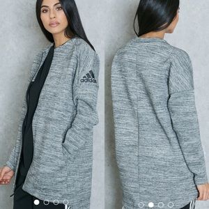 Adidas Gray Black ZNE Roadtrip Full Zip Jacket